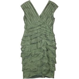 Adrianna Papell Shimmer Sage Green Cocktail Dress